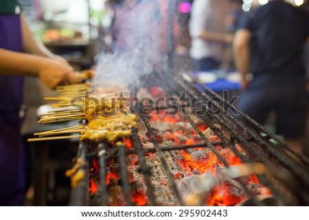 Thai street food BBQ #295902443