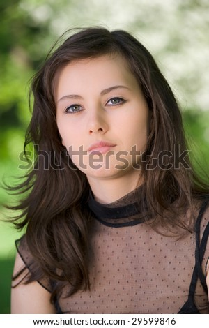 portrait of young woman in the garden #29599846