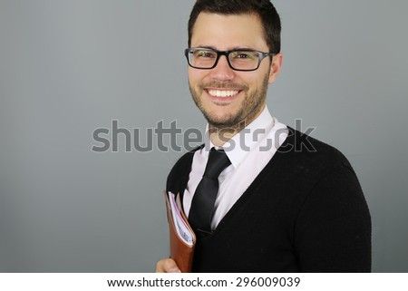 young teacher smiling #296009039