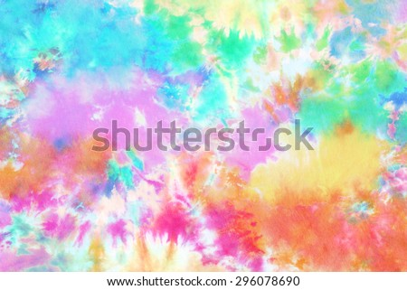 tie dyed pattern on cotton fabric for background.  #296078690