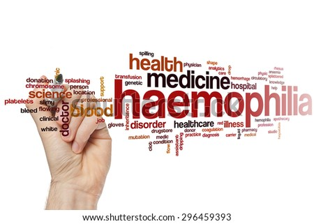 Haemophilia word cloud concept with health blood related tags #296459393