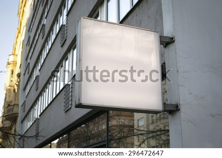 Photo blank signboard on the street