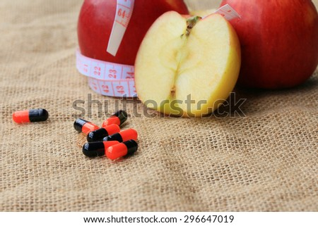 apple juice and measuring tape #296647019
