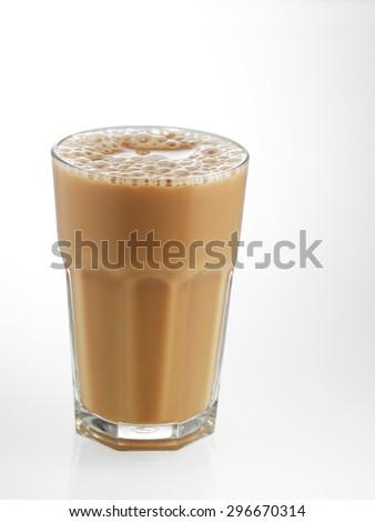 Big glass Tea with milk or Teh Tarik in Malaysia #296670314