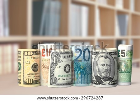 Currency, Currency Exchange, Stock Exchange. Royalty-Free Stock Photo #296724287