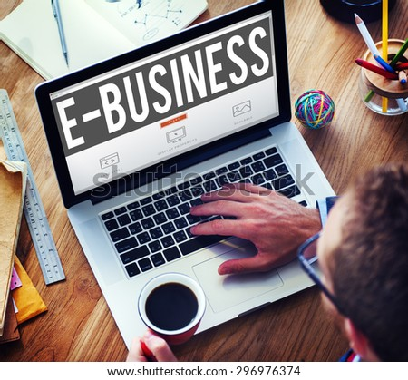 E-business Online Digital Marketing Commercial Concept #296976374