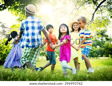 Children Friendship Togetherness Game Happiness Concept #296993762