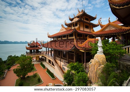 Cai Bau pagoda in Quang Ninh province, Vietnam #297083057