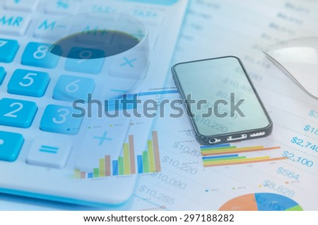 a calculator is on a balance sheet numbers are statistics. #297188282