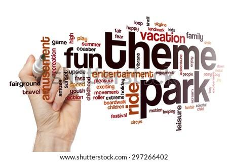 Theme park word cloud #297266402