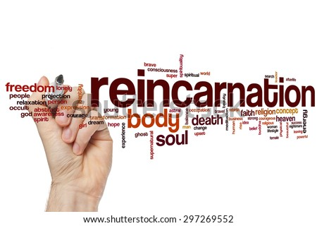 Reincarnation word cloud concept with body soul related tags #297269552
