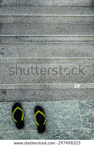 shoe and stair #297498323