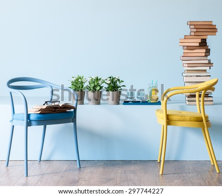 blue wall interior style