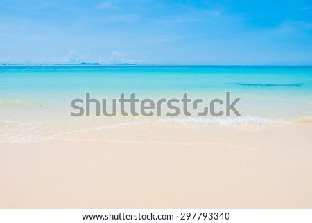 Beautiful Tropical beach and sea #297793340
