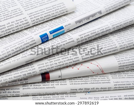 Newspapers Royalty-Free Stock Photo #297892619