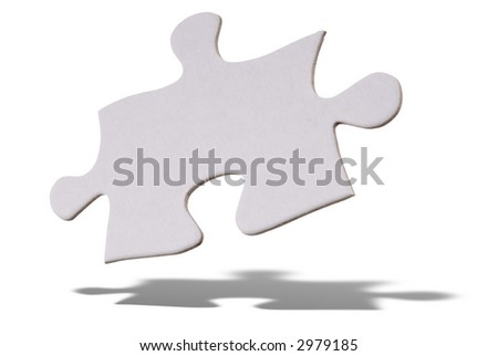 White puzzle piece floating over a white background #2979185