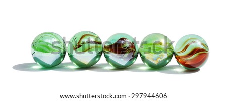 Abstract composition with glass balls #297944606