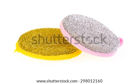 dish washing sponge isolated on the white background #298012160