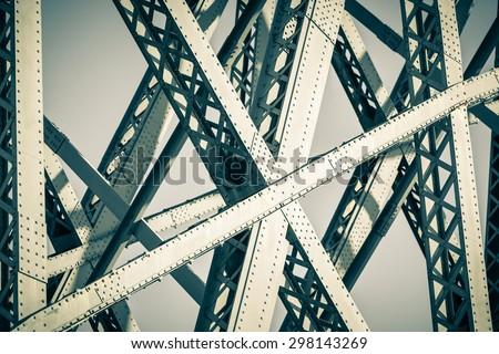Modern Bridge frame closeup. Filtered image #298143269