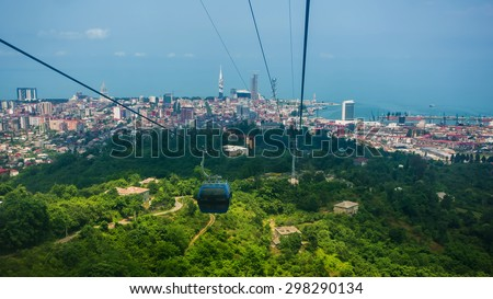 BATUMI, GEORGIA - JULY 20: view from the cabin cableway #298290134