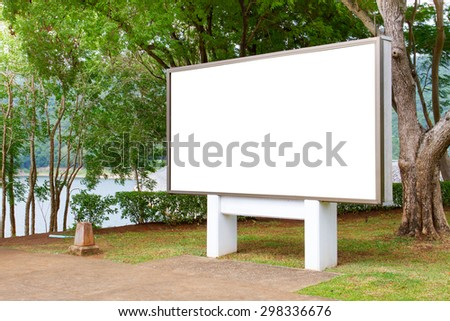 Blank billboard with tree