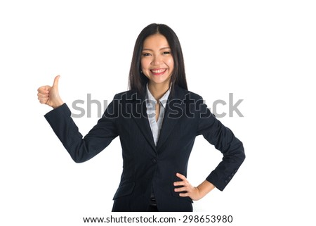 asian business woman thumbs up #298653980