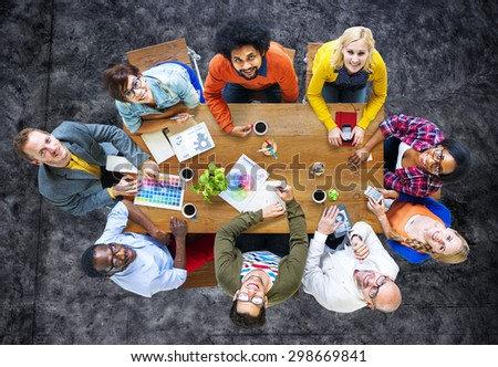 Group of Diverse Designers Having a Meeting Concept #298669841