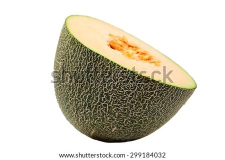 melon fruit isolated on white background. #299184032