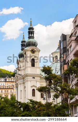 Architecture of Karlovy Vary, Czech Republic. #299188664