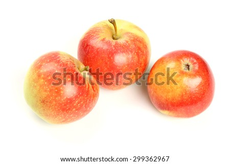 Red apple with leaf #299362967