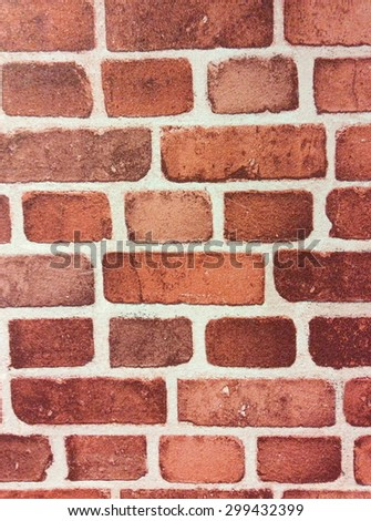 Background of red brick wall texture #299432399