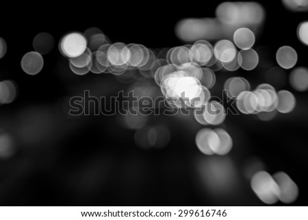 bokeh in the road black and white #299616746