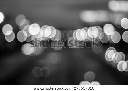 bokeh in the road black and white #299617310