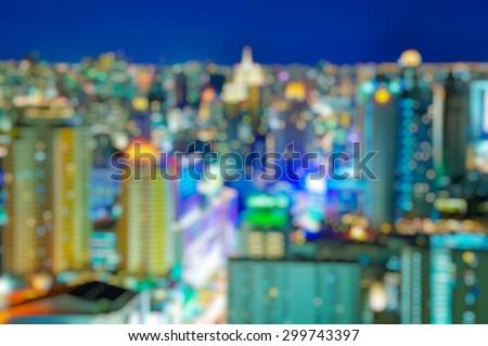 City at night - blur photo,Bokeh background #299743397