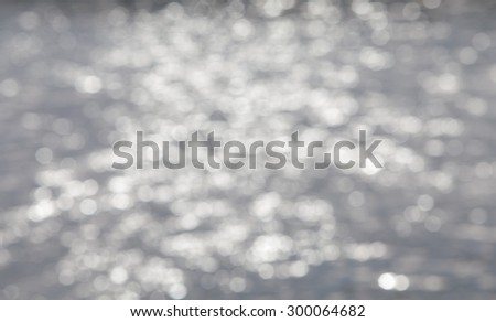 image of blur sea and canel bokeh #300064682