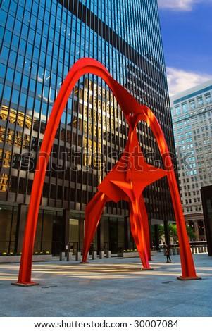 Sculpture Flamingo in Chicago.