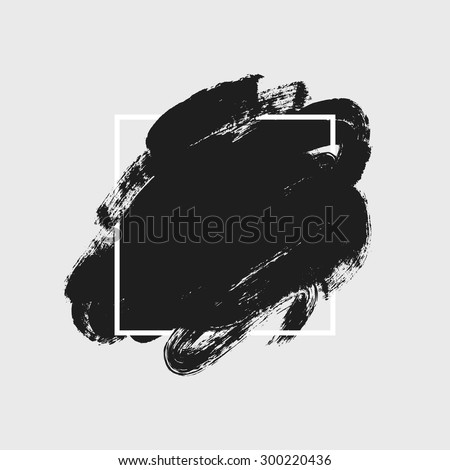 Abstract background. Ink brush strokes with rough edges. Dry brush illustration. #300220436