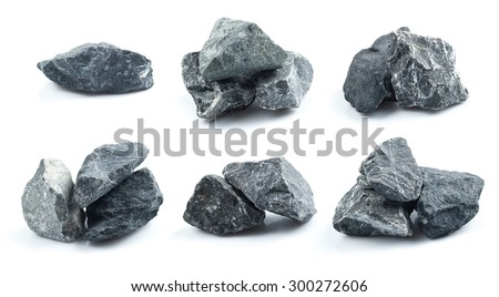 Set of Granite stones on the white background #300272606