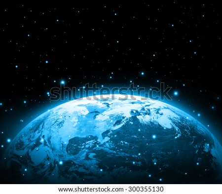 Earth on a background of the sky. Best Internet Concept of global business from concepts series. (Elements of this image furnished by NASA) #300355130