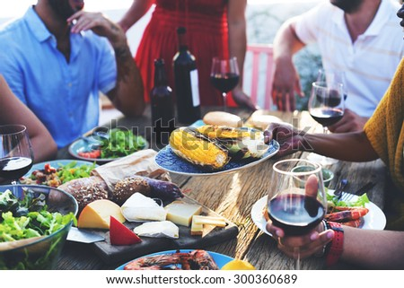 Diverse People Luncheon Food Sharing Concept #300360689