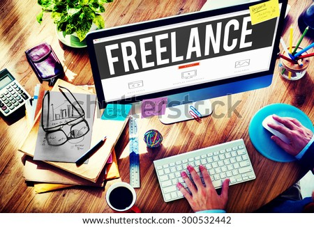 Freelance Part time Outsources Job Employment Concept Royalty-Free Stock Photo #300532442