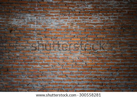 A beautiful brick wall for a background.Brick walls are not plastered cement surface. #300558281