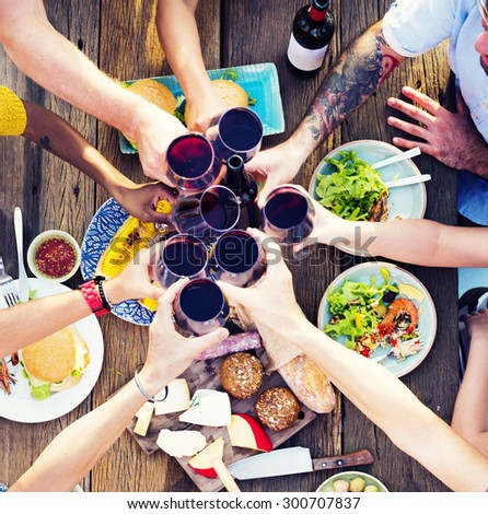 Food Table Celebration Delicious Party Meal Concept #300707837