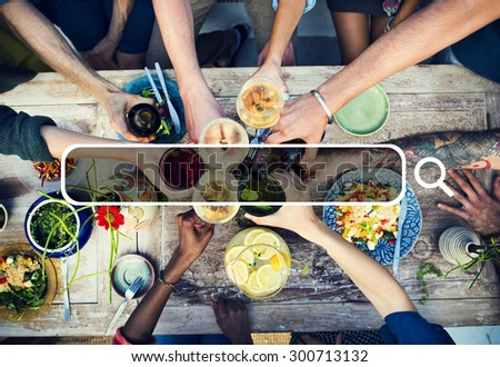 Summer Togetherness Friendship Searching Internet Concept #300713132