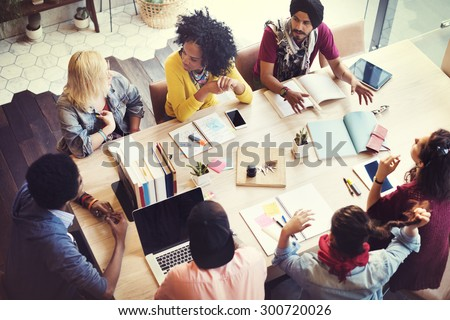 Designer Teamwork Brainstorming Planning Meeting Concept Royalty-Free Stock Photo #300720026