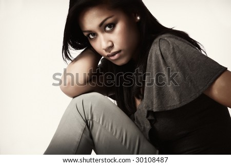 Fashion portrait of a young beautifull african woman #30108487