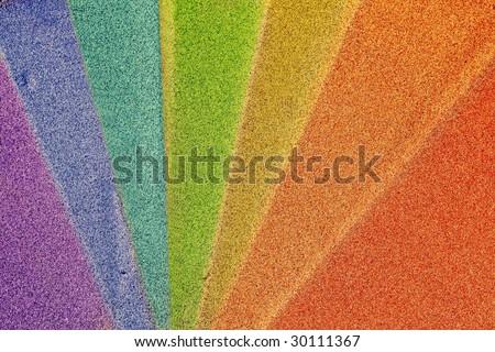 Rainbow-toned sand