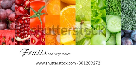 Fresh fruits and vegetables. Healthy food concept #301209272