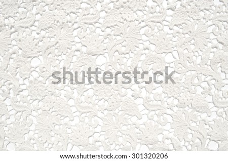 The texture of lace on a white background #301320206