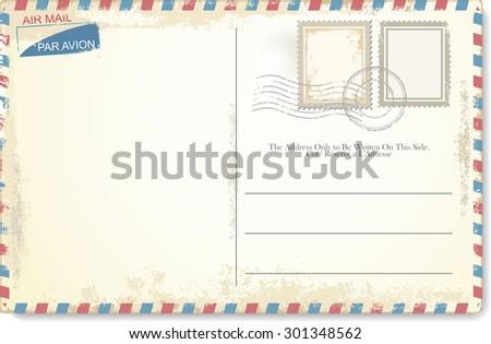 Vintage Postcard Royalty-Free Stock Photo #301348562